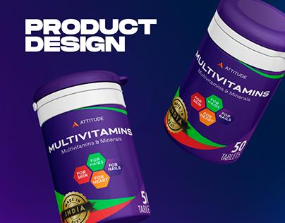 Attitude Multivitamins - Product Design For Supplements