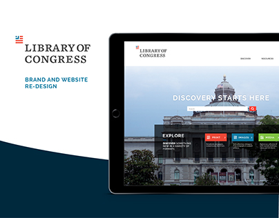 Library of Congress: Brand and Website Design