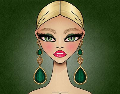 Vector Fashion Girl Clipart