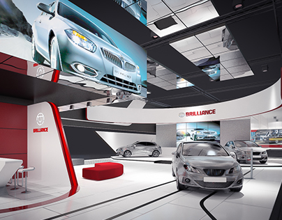 Exhibition booth for Brilliance Motor