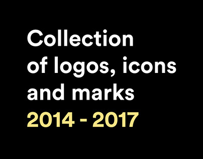 Collection of logos, icons and marks 2014 - 2017