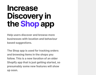 Shop app - design exercise