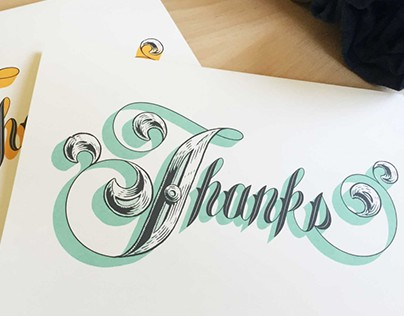 Triple Stamp Press - Thank you cards