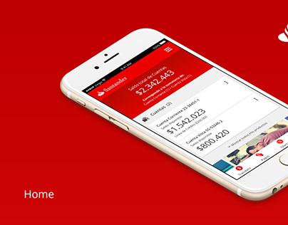 Versión responsivo sección privada Banco Santander