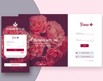 Fiore - Login page responsive design concept