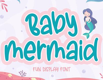 Baby Mermaid - Fun Display Font
