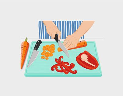 Visualisierung Umgang mit Lebensmitteln für das BZfE