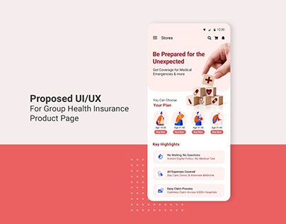 UI/UX for GHI product page