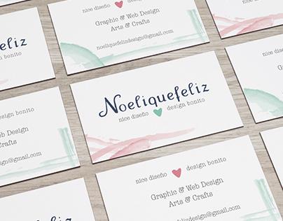 Corporate visual identity for Noeliquefeliz