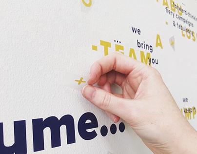 Flume   Typographic Mural