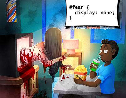 Fear CSS Joke - Weekly Web-comic for Developers
