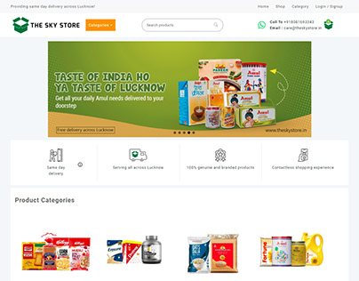 The Sky Store is an online grocery store