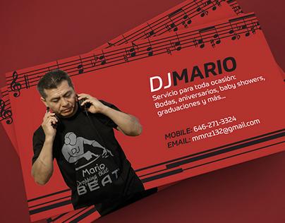 DJ Mario Business Card