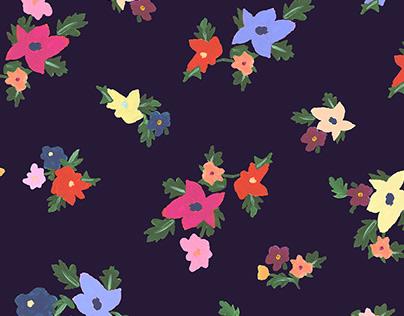 Gouache flowers - Painting & Print