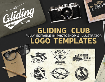 Gliding Club Logo Templates