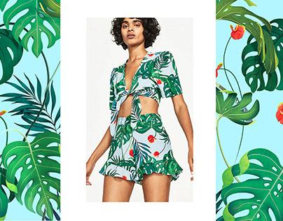 Zara / Tropical Print