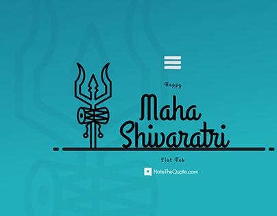 Happy Maha shivaratri 21st February