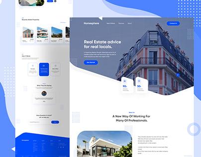 Homesphere - Real Estate Landing Page