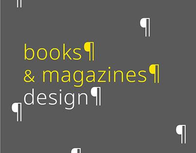 books & magazines design