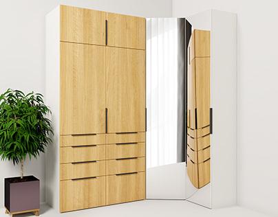 Corner closet. Wardrobe