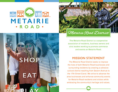 Metairie Road District - Brochure, Map and Branding