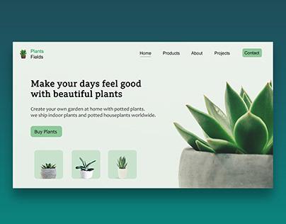 PLANTS FIELDS WEB DESIGN