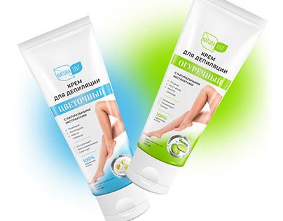 NATURALIST. Дизайн упаковки крема для депиляции