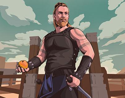 gladiator ~ fantasy illustration (ayndre, 2020)