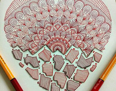 Stunning Mandala Doodle Art