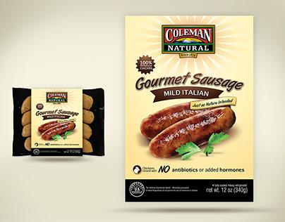 Packaging design for Gourmet Sausage
