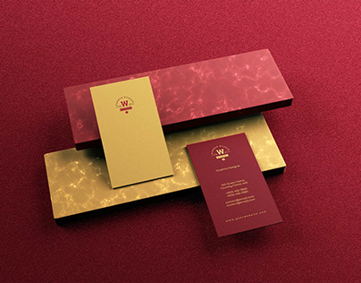Red Luxury Business Card