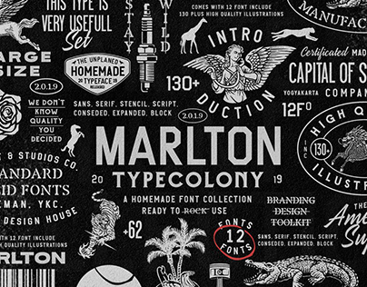 Marlton Font Collection