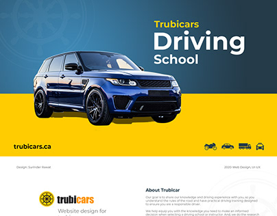 Trubicars Website design from scratch