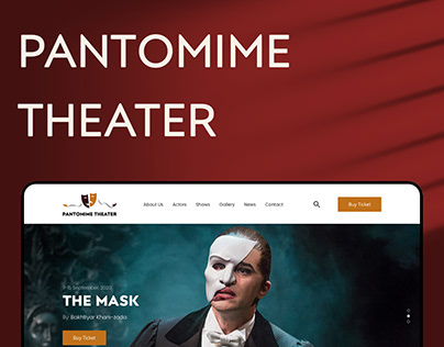 Pantomime Theater Website Design