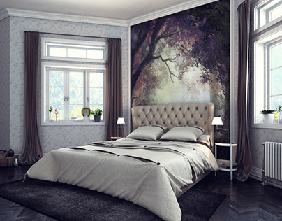 black brown bedroom