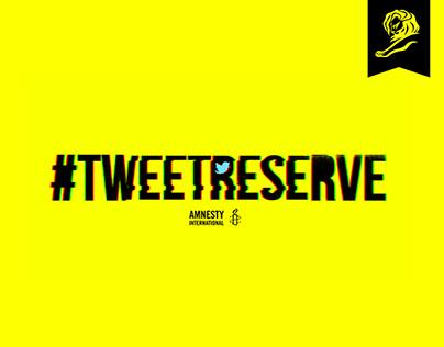 Amnesty International - #TweetReserve