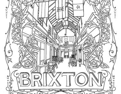 Brixton hand drawn and digital illustration