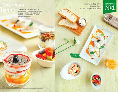 Leto-cafe menu photoshoot and design