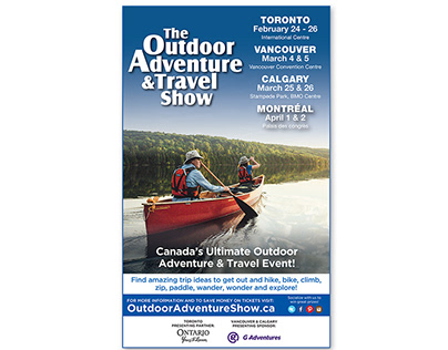 The Outdoor Adventure Show - Print Ads
