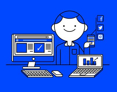 E-commerce & Digital Marketing / Illustrations