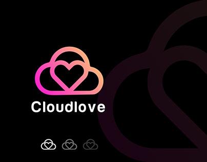 Cloud Love Logo - Modern Tech Technology - Logo Design