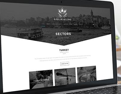 Kayalar Holding Website Design