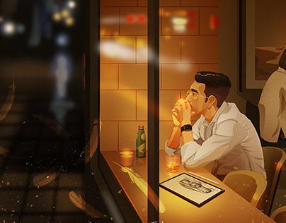 夜晚的尾声—Julin插画