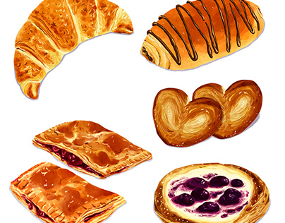 Pastry - Realistic Illustration
