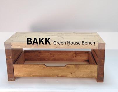 BAKK- Green House Bench