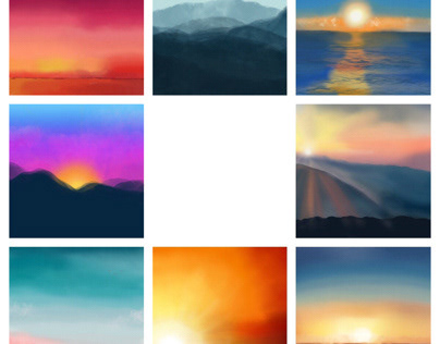 Sky Series Paintings