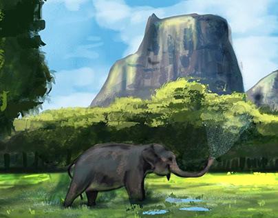 Elephant illustration - Ilustración elefante