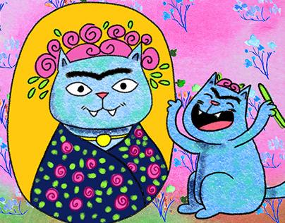 Frida the cat.
