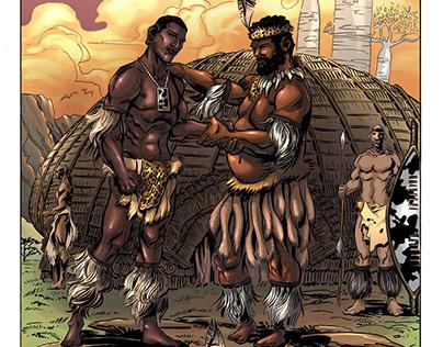 Shaka Zulu Comic digital colours