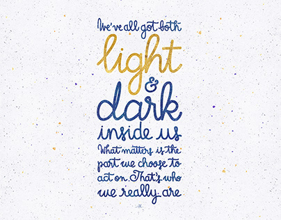 """Harry Potter Quotes """"Light and dark inside us"""""""